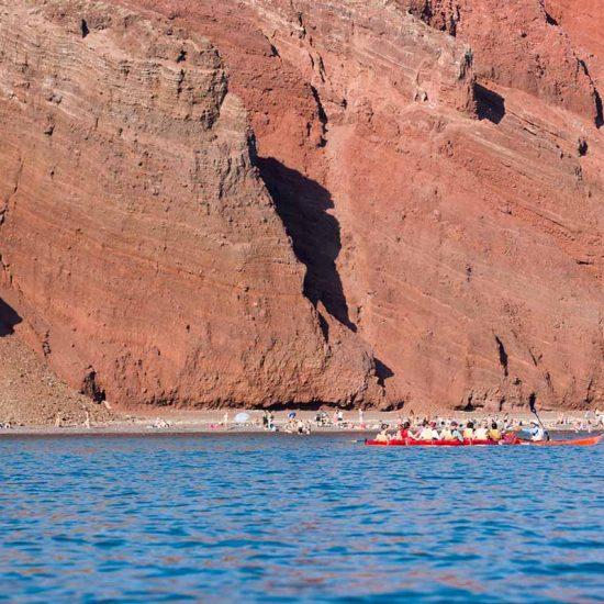 sea kayak santorini