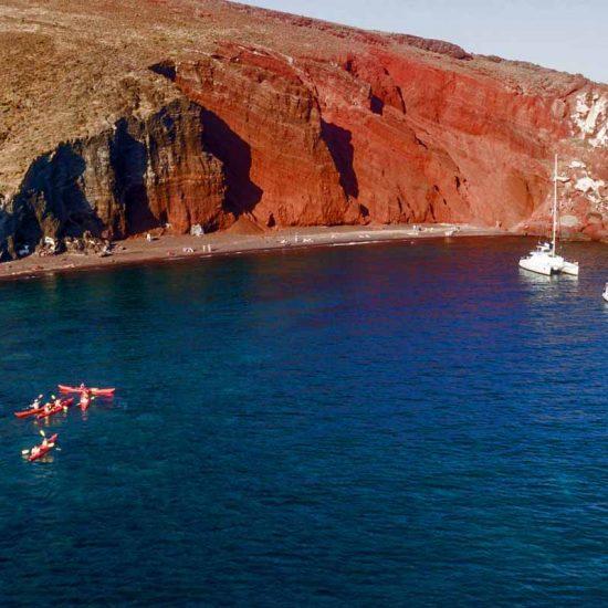 sea kayak santorini greek islands
